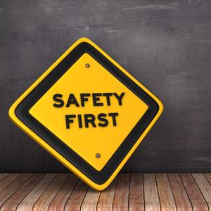 Safety Sign - Safety First - No Slip Floor
