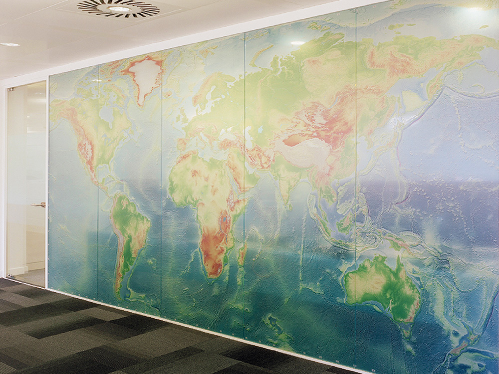 Treck Hall - Lintec Optically Clear Window Graphics - Meeting Room Map